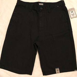 NWT Vans Black Easterly Flat Front Skater Short 30